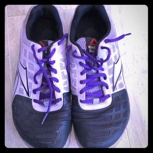 Reebok Womens Crossfit Shoes Purple Black